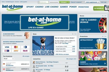 Bet at Home fussballwetten bonus